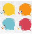 megaphone with speech bubble isolated transparent vector image vector image
