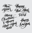 merry christmas and happy new year handwriting cal vector image vector image