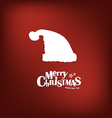 Merry Christmas greeting card with xmas decoration