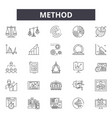 method line icons signs set linear vector image