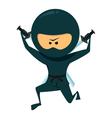 Ninja With Katana vector image vector image