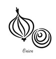 onion hand drawn doodle icon vector image vector image