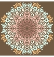 Ornamental round pattern with drops vector image vector image
