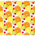 pattern with citrus fruits and sherry vector image vector image