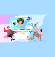 people sharing information media marketing vector image