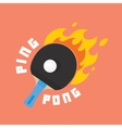 Ping-pong is on fire vector image vector image