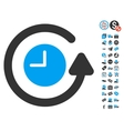 Restore Clock Icon With Free Bonus vector image vector image