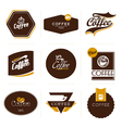 Retro styled coffee labels badges vector | Price: 1 Credit (USD $1)