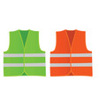 safety green and orange vests vector image