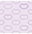 seamless lace pattern with lips vintage textile vector image vector image