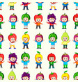 seamless pattern with happy children vector image vector image