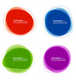 set colorful circular banners vector image