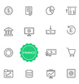 Set of Finance Money Elements can be used as Logo vector image vector image