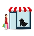 shoes woman buys gifts vector image vector image