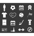 Sport icon set 2 monochrome vector image