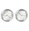 steel vintage wall clock on a white background vector image