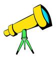 telescope icon icon cartoon vector image vector image