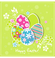 Template easter greeting card vector image