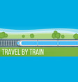 train travel banner vector image