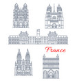 travel landmark france architecture icon vector image vector image