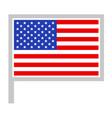 usa flag on flagpole icon vector image