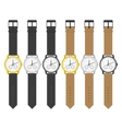 watches in classic design vector image vector image