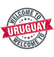 welcome to Uruguay red round vintage stamp vector image vector image