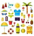 Summer symbols icons vector image