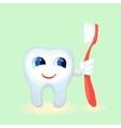 Children teeth care and hygiene cartoon flat vector image