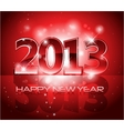 2013 New Year shiny background vector image vector image