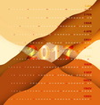 2017 calendar on orange abstract background vector image vector image