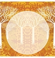Abstract autumnal trees vector image