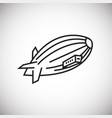airship thin line on white background vector image