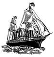 america atlantic boat vector image vector image