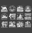 ancient egyptian pyramid god ankh sphinx icons vector image