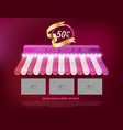 awning shop template vector image