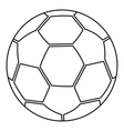 Ball icon outline style vector image vector image