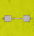 Barbell Cartoon vector image
