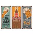 beer festival invitation oktoberfest vintage vector image