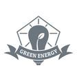 bulb eco energy logo simple gray style vector image vector image