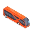 Bus Icon in Isometric Projection vector image vector image
