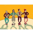 Business team dance presentation color vector image vector image
