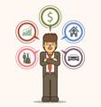 businessman vision goal dream in future vector image