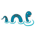 cartoon style loch ness monster vector image vector image