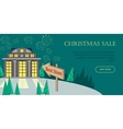 Christmas Sale Flat Style Web Banner vector image vector image