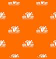 cowboy pattern orange vector image vector image