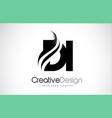 di d i creative brush black letters design with vector image