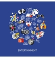Entertainment Round Composition vector image