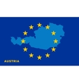 Flag of European Union with Austria on background vector image vector image