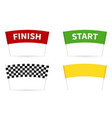 flag start flag finish for competition vector image vector image
